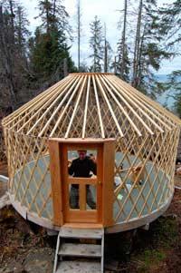 Alaskan tough yurts moderne jurte - Holzsparren kaufen ...